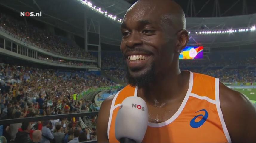 Churandy Martina is trots na zijn tweehonderd meter.